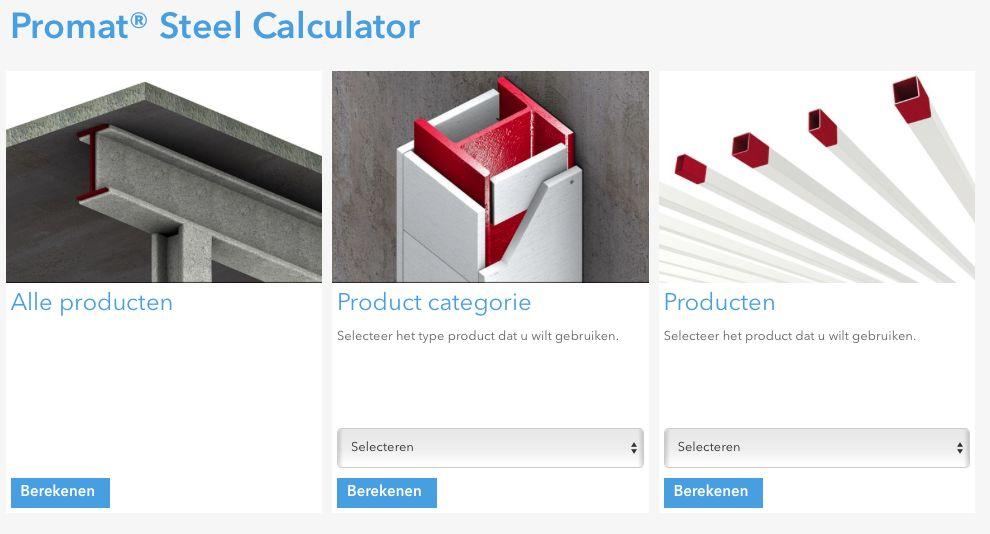 Promat Steel Calculator berekent brandbescherming stalen draagconstructies