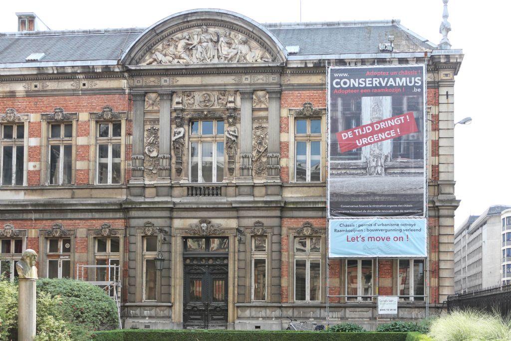 Restauration des châssis du Conservatoire royal de Bruxelles
