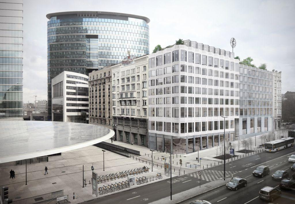Crowne Plaza 'Le Palace' in Brussel krijgt facelift en uitbreiding door Italiaanse Onesitestudio