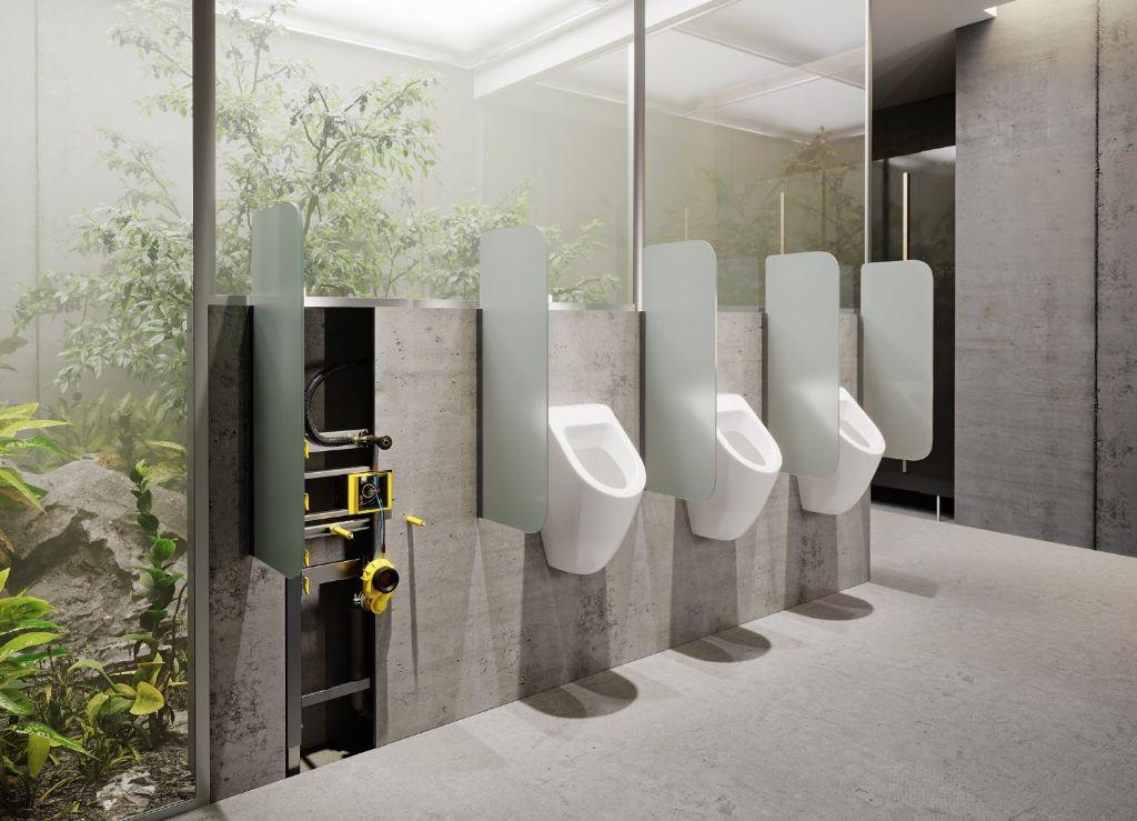 Contactloze spoeltechnologie voor urinoirs