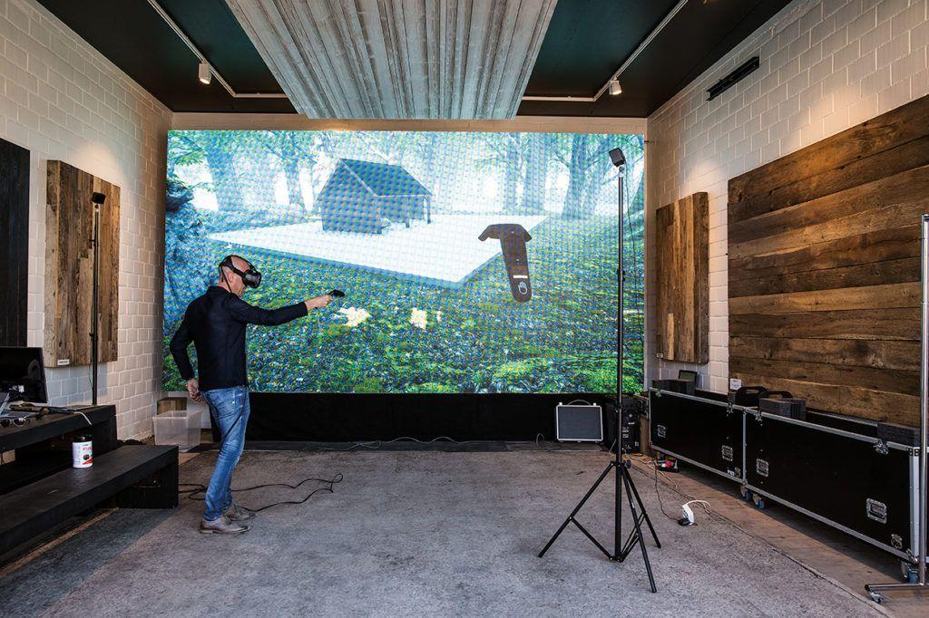 Voorstellen met virtual realitybril