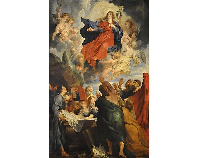 De Hemelvaart van Maria door Rubens.