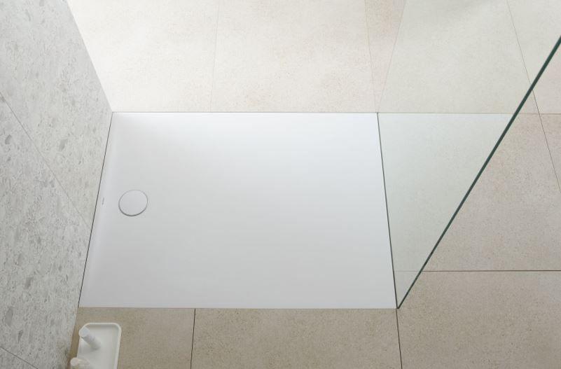Nouveau receveur de douche Olona de Geberit : esthétique et fonctionnel à la fois