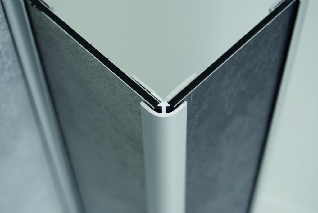 Profielen in aluminium (buitenkant)