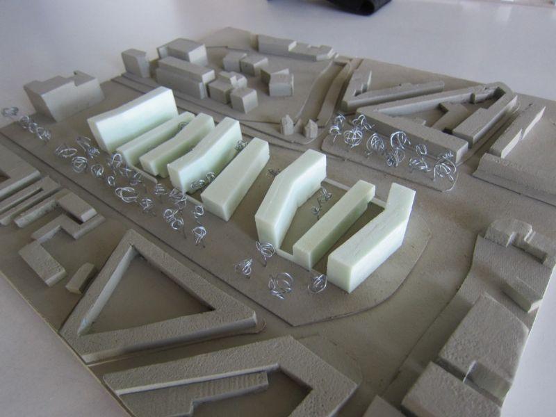 Er worden 8 nieuwe appartementsblokken gebouwd.