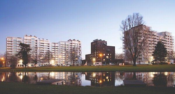 Project De Drie Hofsteden, van de hand van B2Ai, in Kortrijk.