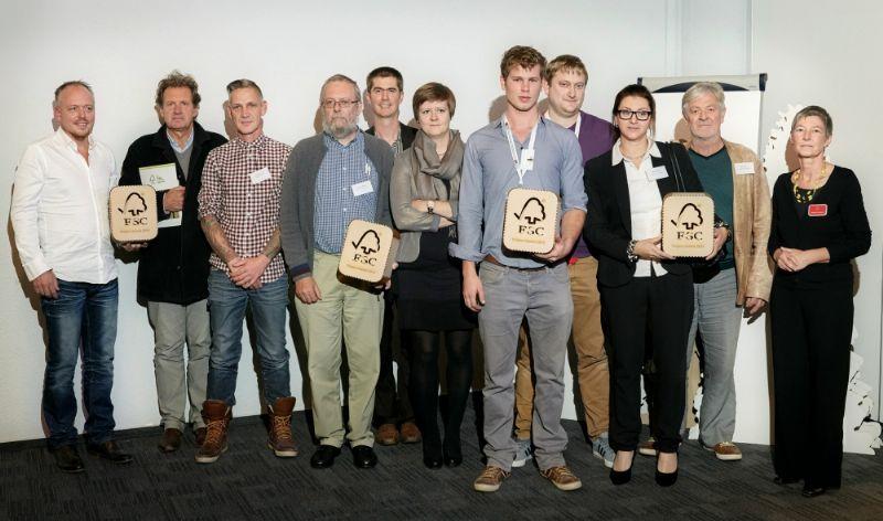 De winnaars van de FSC Project Awards.