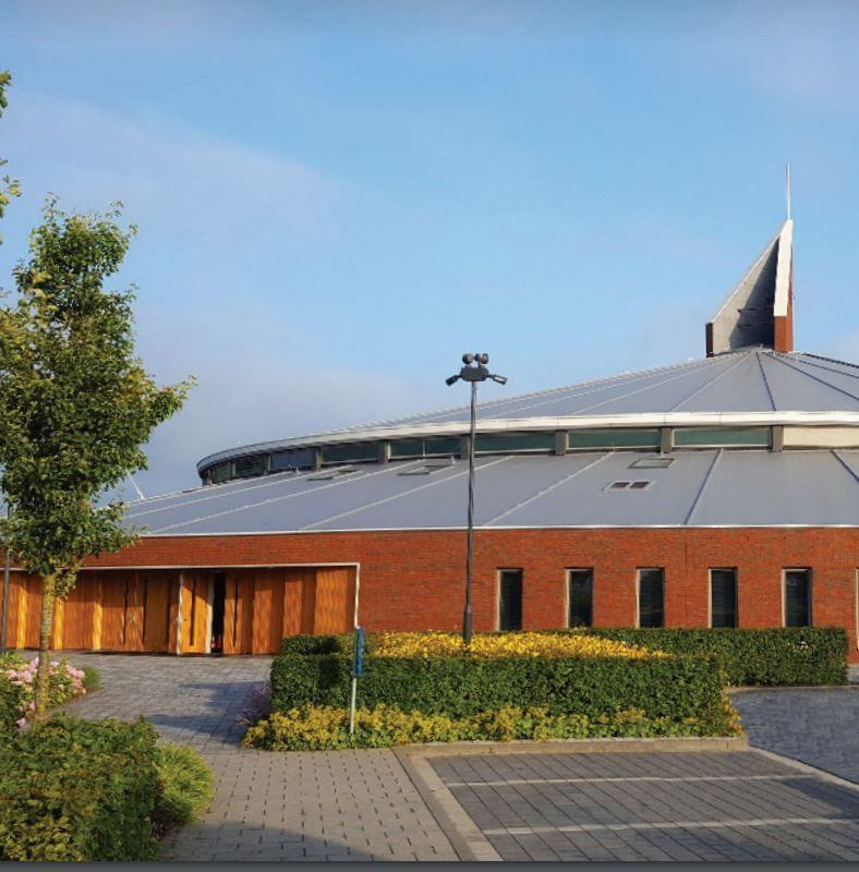 Flexibel dakmembraan draagt bij aan strak nieuw kerkgebouw
