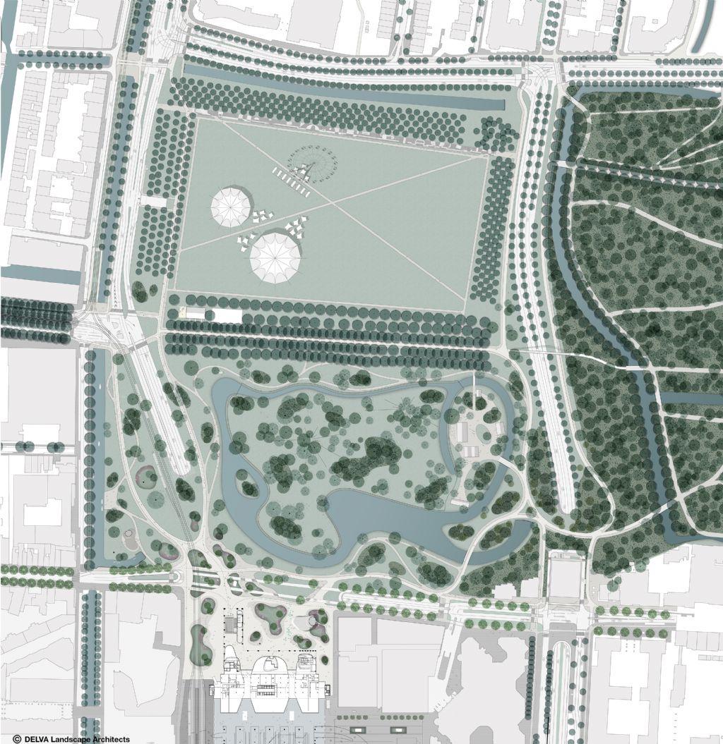 Plan van 'De Groene Entree'