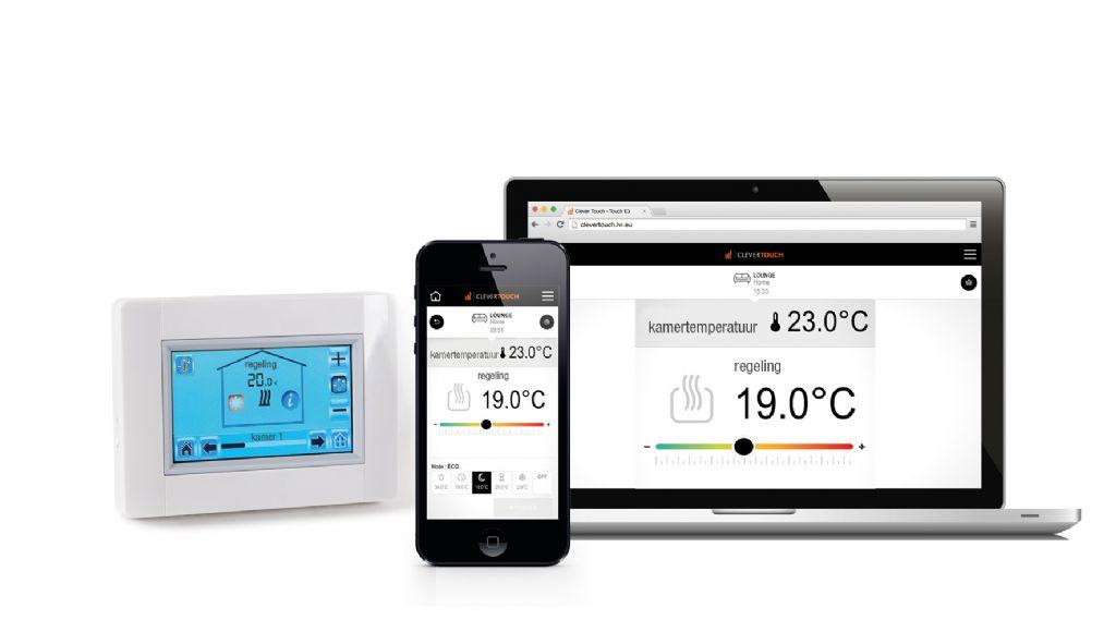 De verwarming regelen met een smartphone of tablet