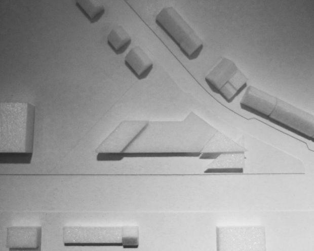 Maquette van het Bruno-tankstation.