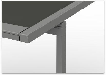 Close up verandazonwering VZ080-ZIP