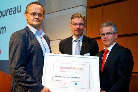 Redactiebureau Palindroom en Architectura kregen een eervolle vermelding tijdens de uitreiking van de Business Mobility Awards in juni.