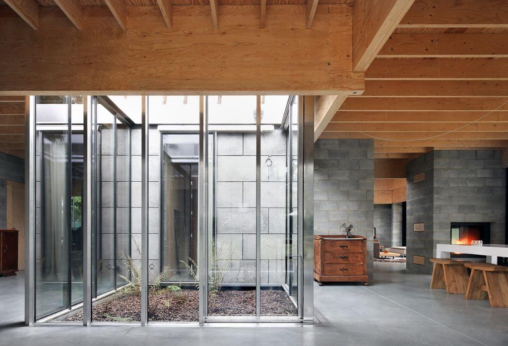 Patio met de aaneengeschakelde open leefruimtes