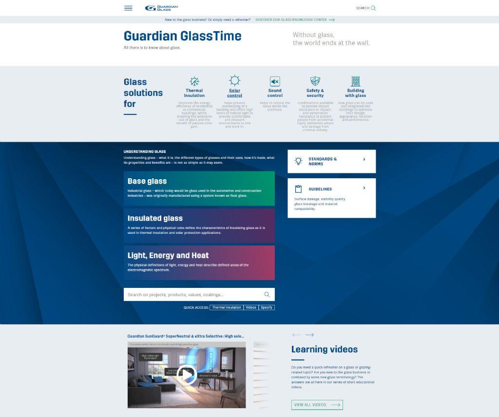 GlassTime, het 'ultieme online kenniscentrum voor glas'