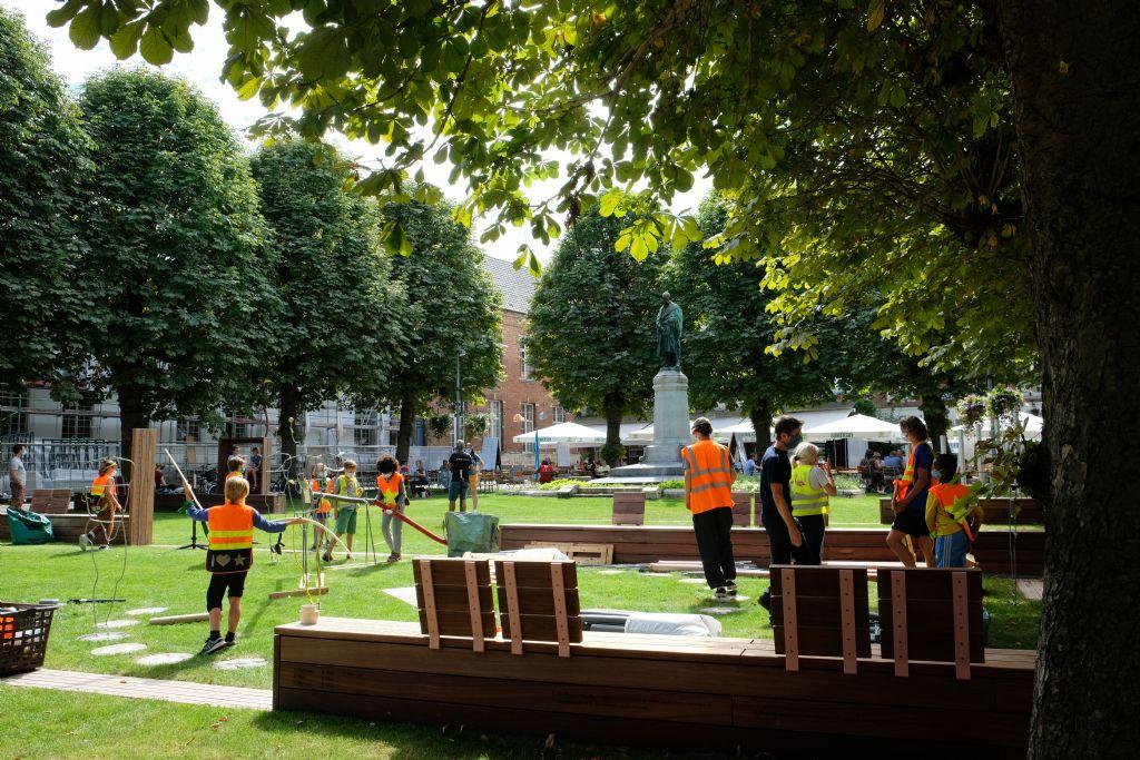 Hogeschoolplein in Leuven brengt rijke geschiedenis op speelse manier tot leven