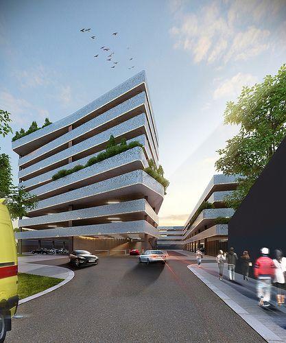 Abscis Architecten tekende het nieuwe parkeergebouw AZ Sint-Lucas & Volkskliniek in Gent.
