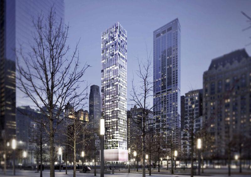 De Lower Manhattan Tower van Selldorf architecten.
