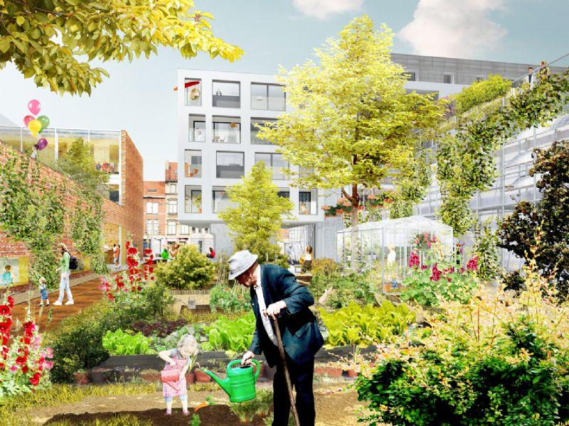 2DVW Architecten en Duotuin hertekenen Mussensteeg in Elsene