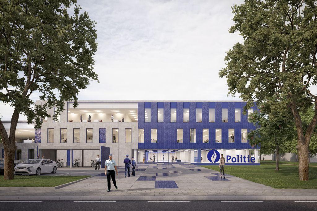 Nieuw politiekantoor Kortrijk: Goedefroo + Goedefroo Architecten, Architecten- en ingenieursbureau D'Hondt
