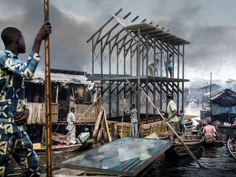 'Scales', un projet de construction flottante toute en acier