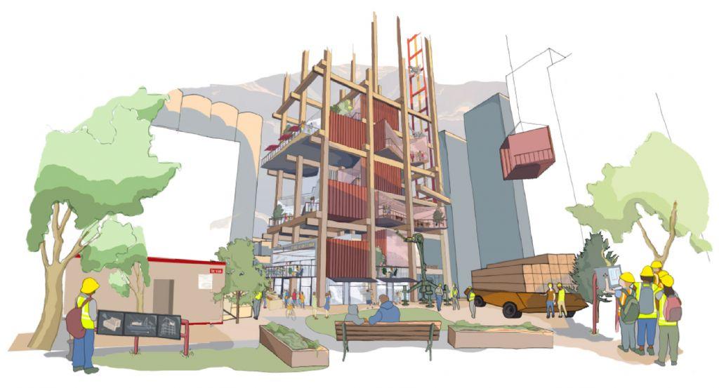 Nieuwe constructiemethodes zullen worden toegepast, bedoeld om huisvesting en kantoren goedkoper te maken