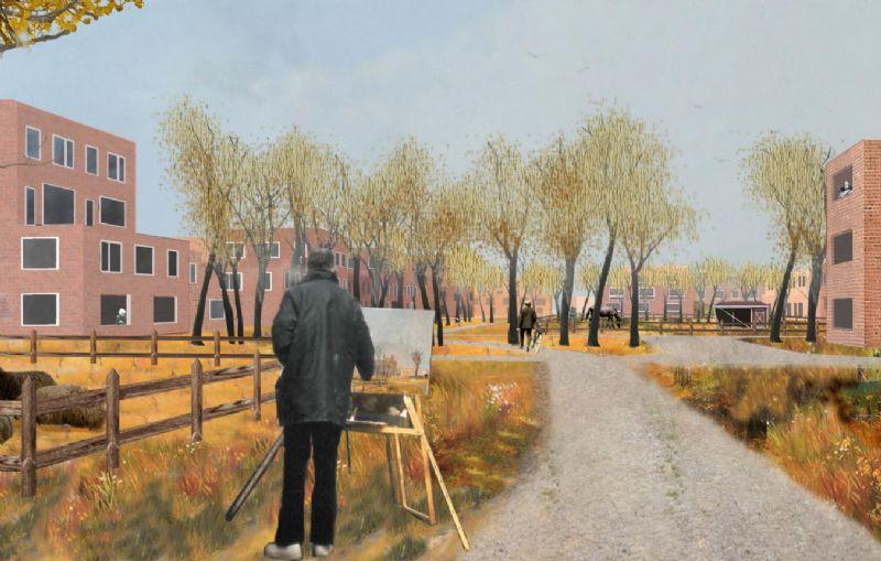 Het masterplan is vertrokken vanuit de ambitie om een stedelijk woonproject in een landschappelijke omgeving te realiseren, als alternatief voor het klassieke Vlaamse verkavelingsmodel van huisje, tuintje, boompje.