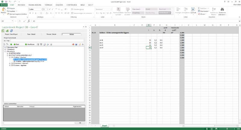 Geo-IT LastenboekLink maakt koppeling tussen MS Office en het BIM-model