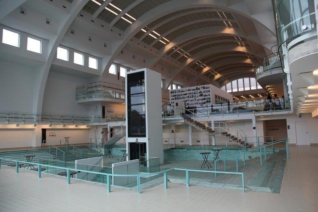 De voormalige zwembaden van La Sauvenière in Luik fungeren voortaan als tentoonstellings- en evenementenruimtes.