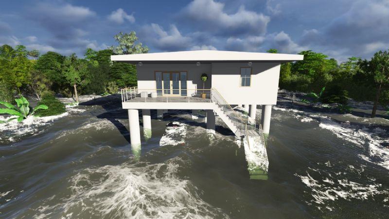 Een zogenaamd tsunamihuis