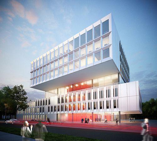 Ook de faculteit Industriële en Biowetenschappen in Brugge werd onder handen genomen door Abscis Architecten.