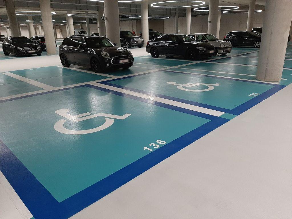 Un revêtement de sol performant pour le parking du Boulevard Bleu