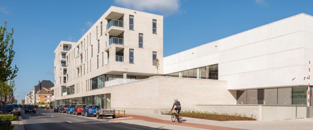 B2Ai en VenhoevenCS ontwerpen expressief gebouw voor zwembad Brigitte Becue in Oostende