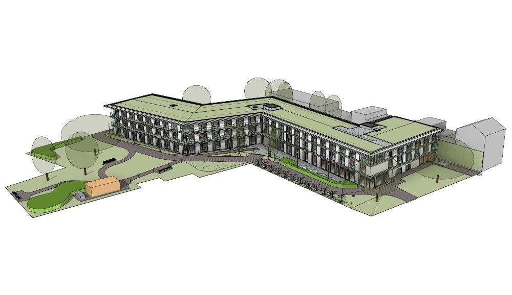 Slingerbeweging kenmerkt nieuw WZC van de hand van POLO Architects