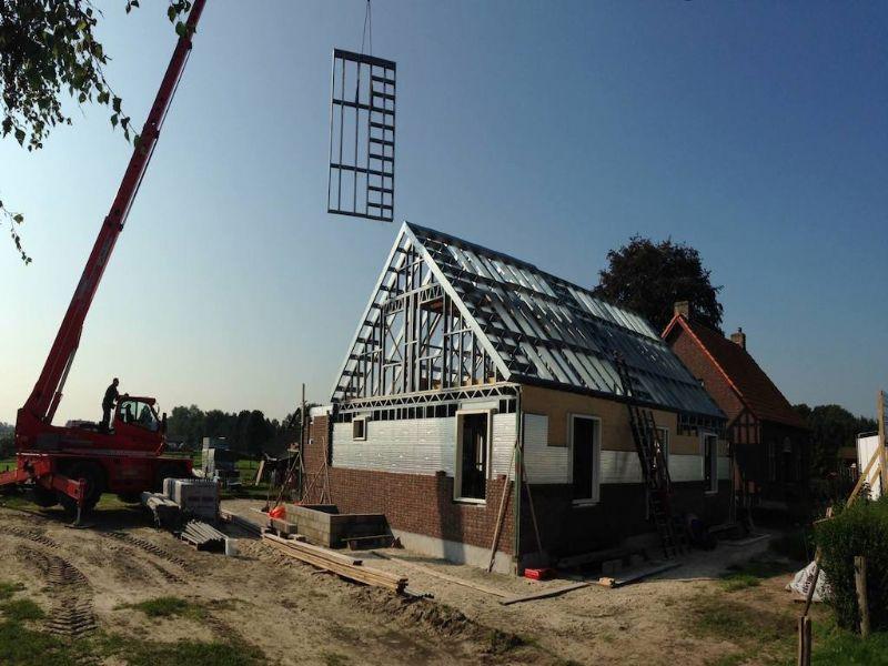 Voorbeeld van BeSteels nieuwe staalskelet.