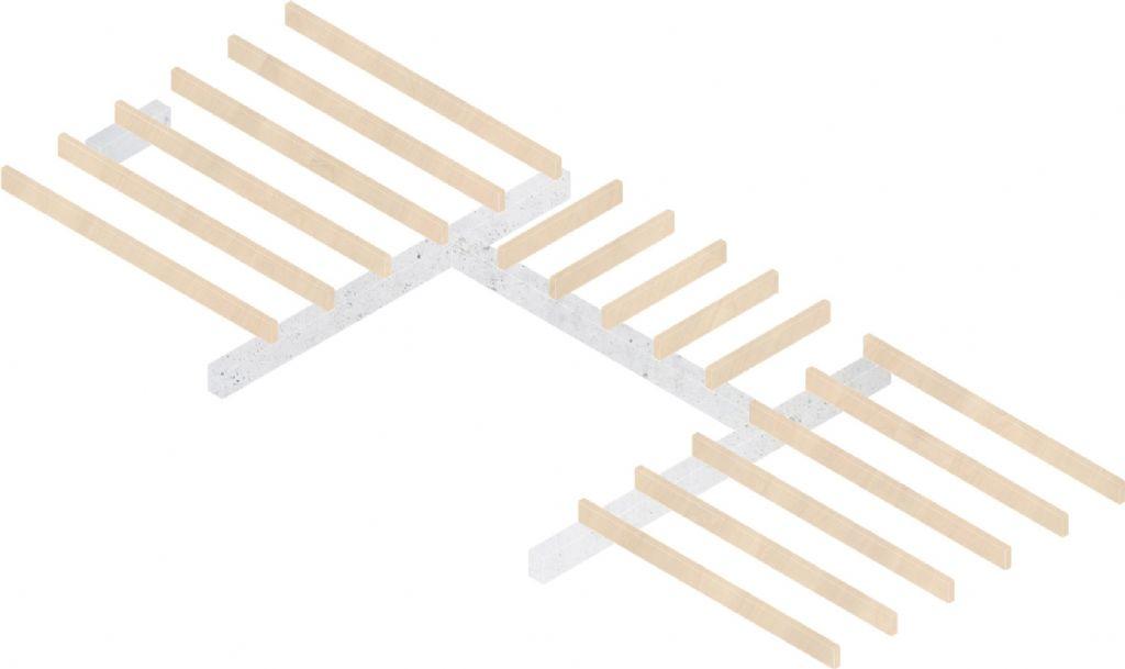 Isometrie van de balkenconstructie
