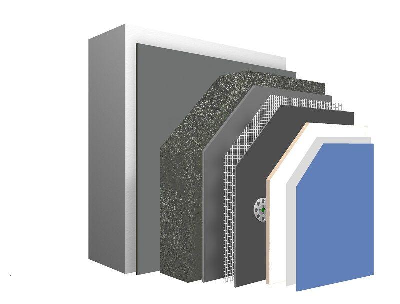 Nouveau système d'isolation de façade avec l'isolation FOAMGLAS et de la chaux naturelle