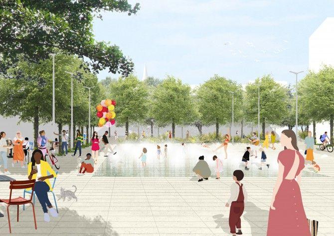 Een toekomstbeeld van het Lobroekplein