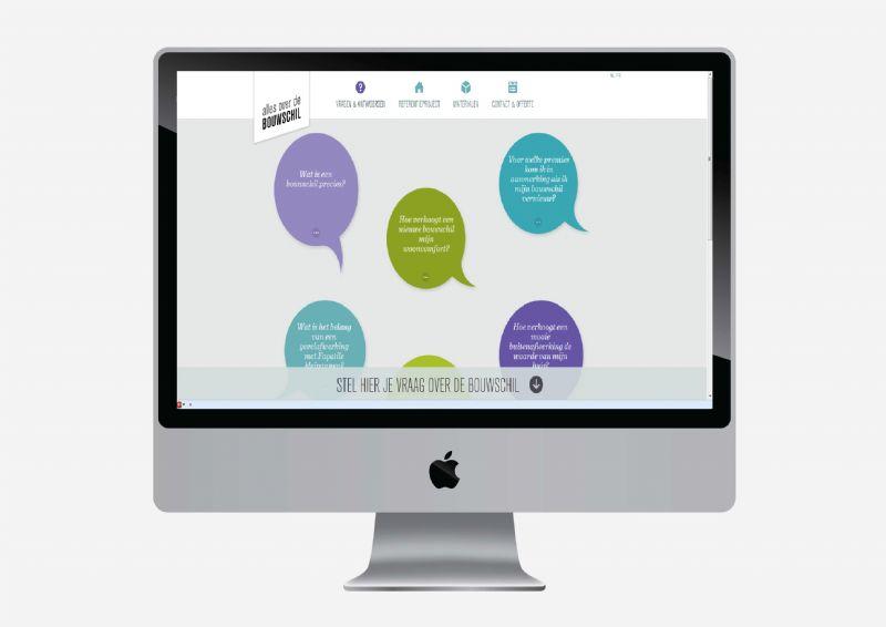 Bezoekers kunnen eigen vragen toevoegen aan de website.