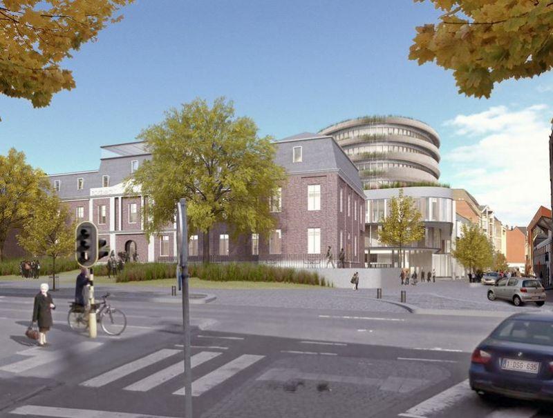 Het ontwerp voor het Administratief Centrum in Hasselt van Hollistic Architecture, dat het uiteindelijk niet haalde.