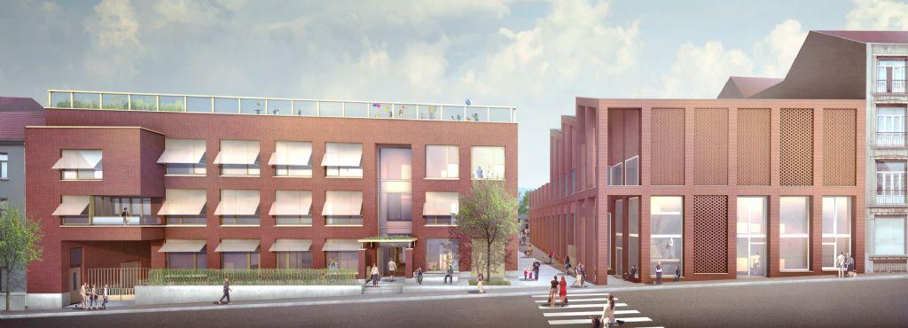 Het Optima-project (bouw van een Nederlandstalige school en uitbreiding van een Franstalige school)