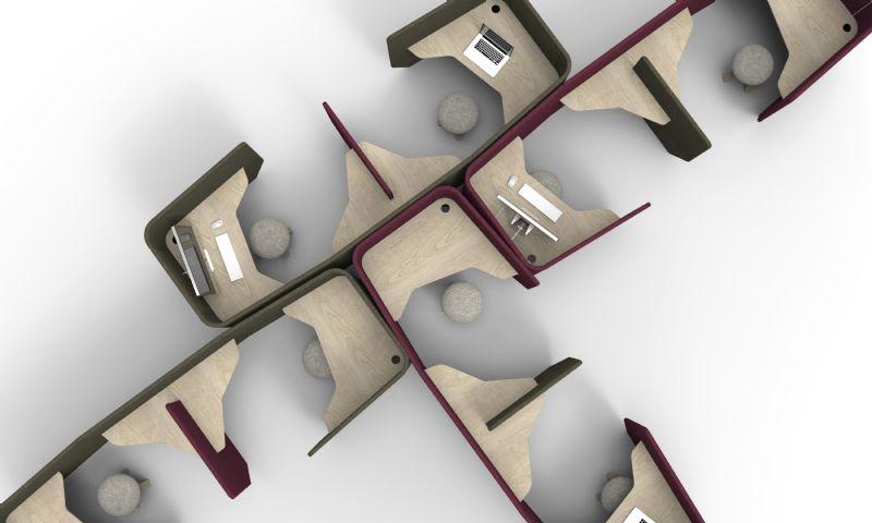 BuzziVille kan naar believen uitbreiden, inkrimpen en omgevormd worden naar gelang de noden van de werkplek.