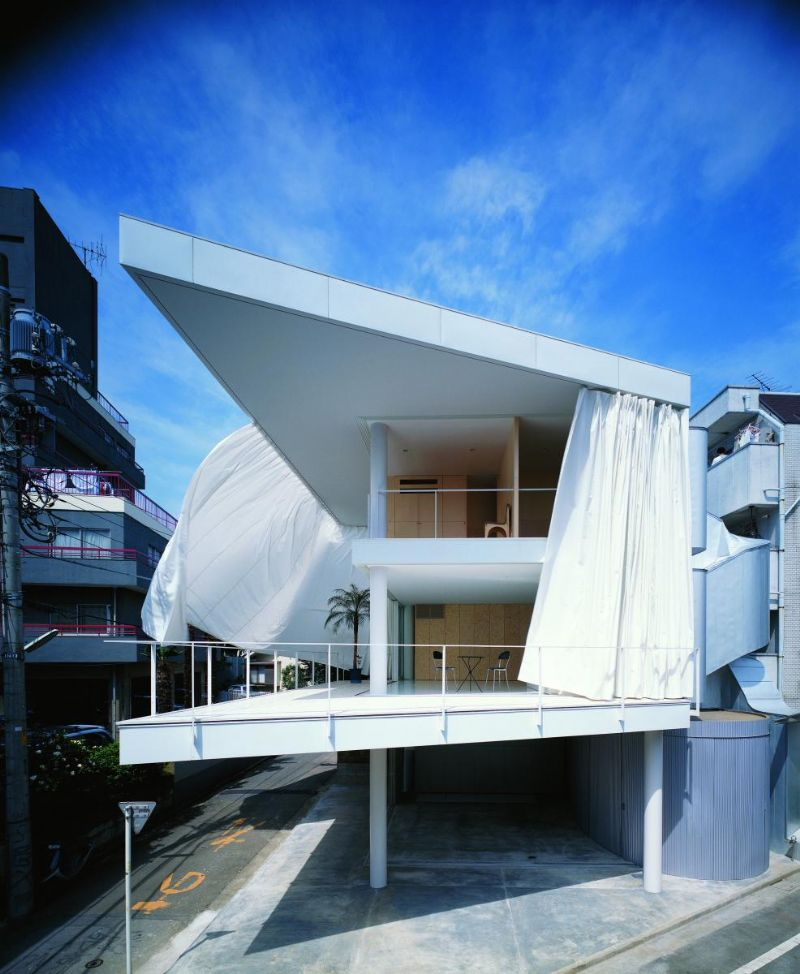Curtain Wall House in Tokyo.