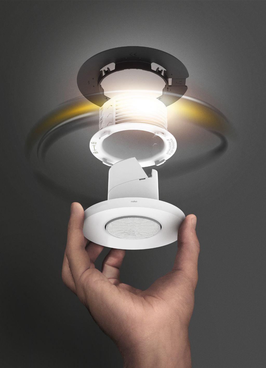 Niko lanceert plafonddetectoren met eenvoudig montagesysteem
