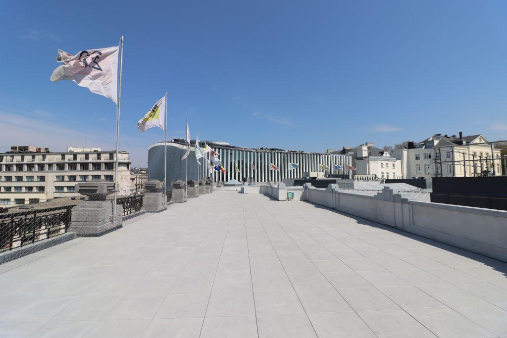 Nieuw dakterras voor Bozar naar visie Victor Horta (Barbara Van der Wee Architects)