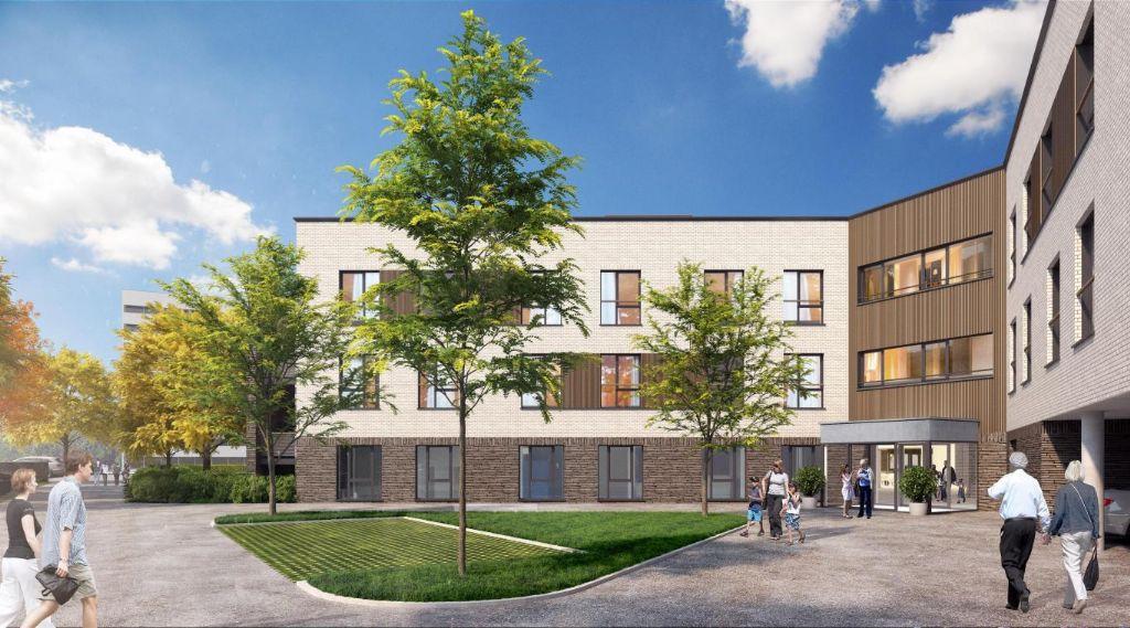 Woonzorgcentrum en serviceflats voor OCMW Salzinnes gerealiseerd volgens het Passiefhuisconcept