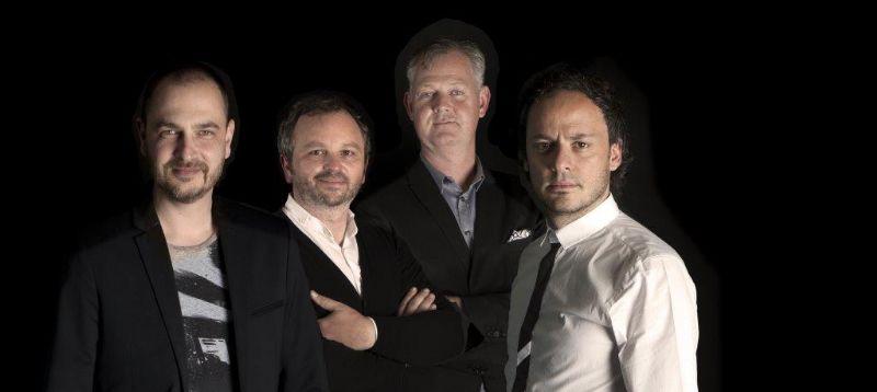 V.l.n.r.: Frederik Vaes (SAQ architects), Joris Diliën (DAR), Michel Janssens (CFO), Massimo Pignanelli (MASSarchitects).