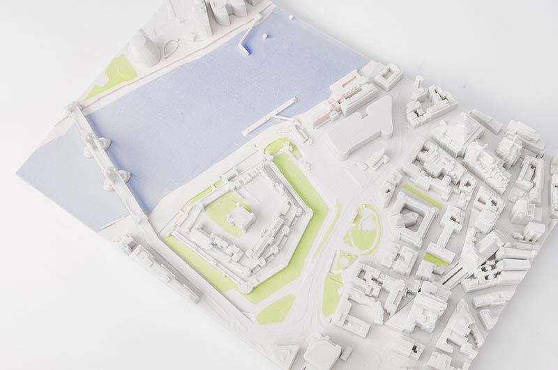 Een 3D-maquette van Goedhart Repro