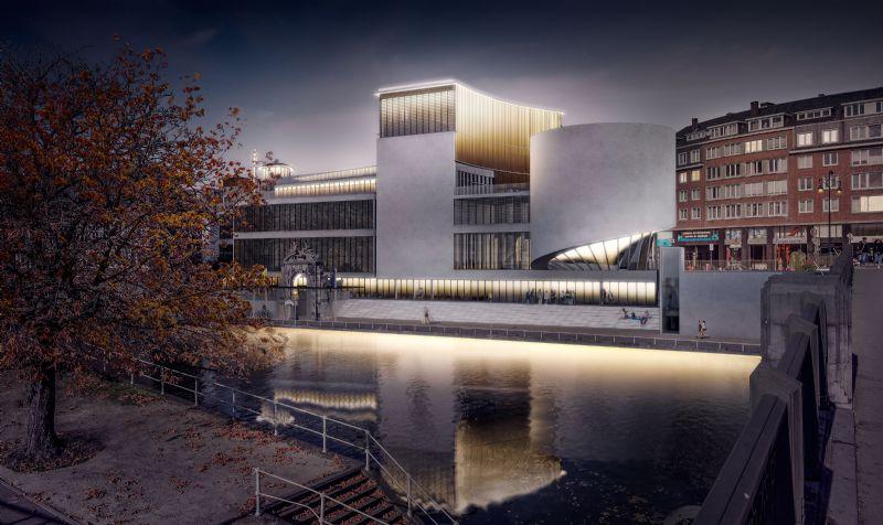 Le projet se situe dans l'un des plus beaux endroits de Namur, face à la Citadelle. Il a la volonté de devenir un lieu emblématique marquant l'entrée de ville en amont de la Place d'Armes.