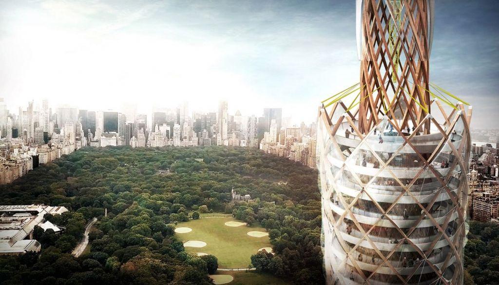 Het gevaarte is met 217 meter de hoogste uitkijktoren ter wereld.